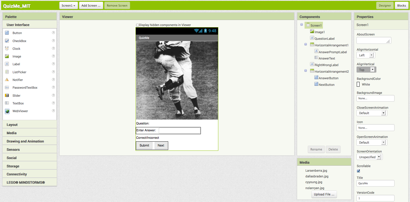 To Create This Interface, First Load The Images You Downloaded Into The  Project Click On The