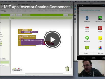 Sharing Component: send files and text with the app of your choice