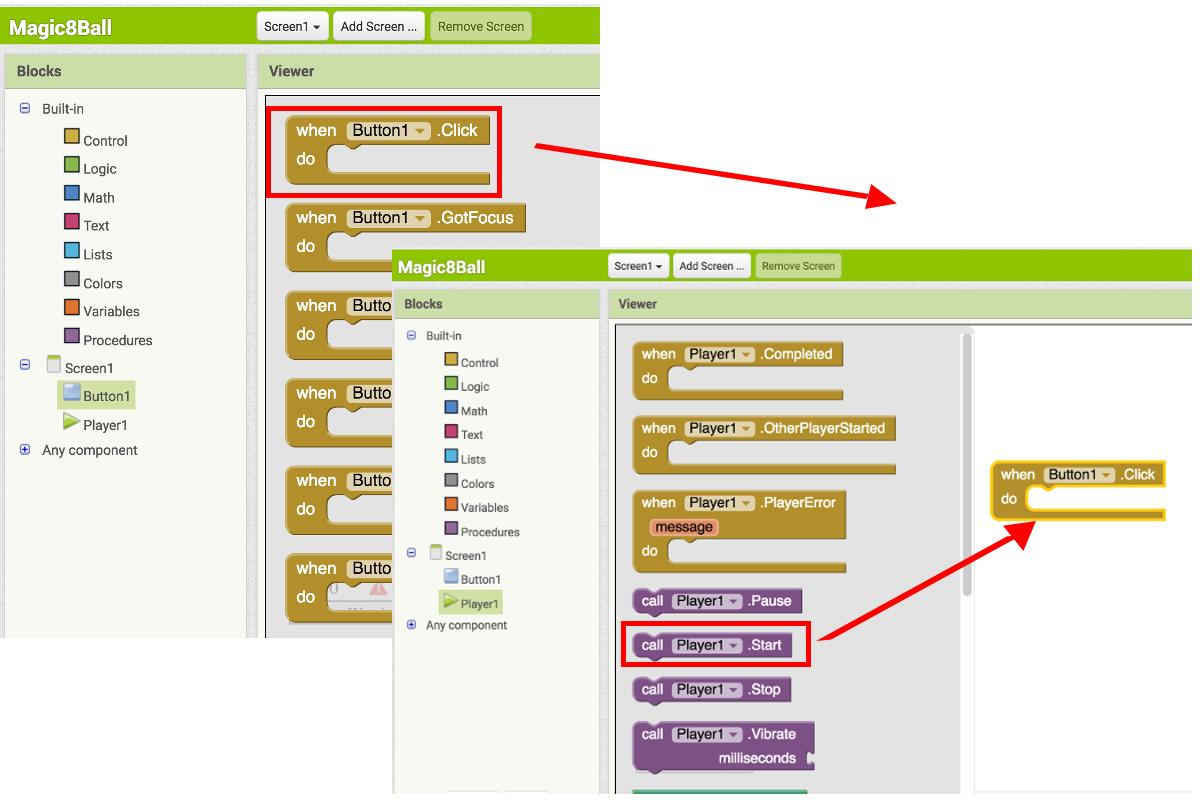 Magic 8 Ball For App Inventor 2 Explore Mit Block Diagram Math
