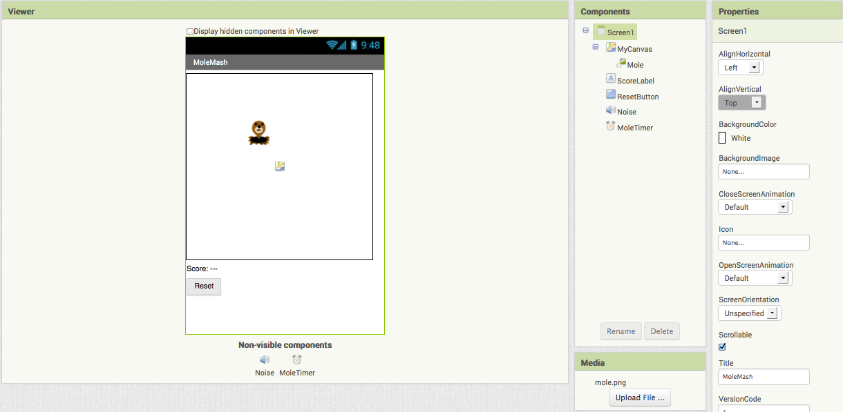 Molemash For App Inventor 2 Explore Mit App Inventor