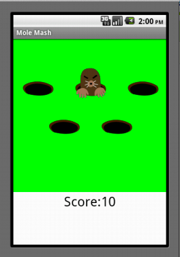 This Tutorial Shows You How To Build A Game Similar To The Whac A Moletm Arcade Game Specifically Your Goal Is To Tap A Mole That Randomly Pops Out Of One