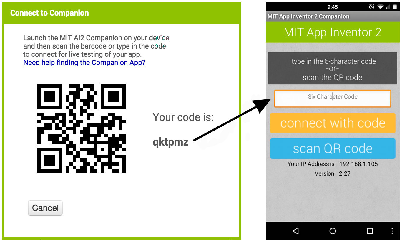 qr code scanner android test