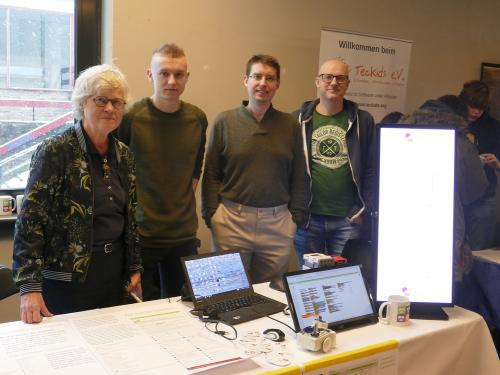 Image of the team, left to right: Ghica, Bart, Evan, Peter