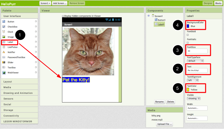 Hello Purr for App Inventor 2