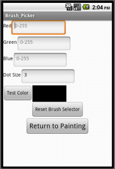 Colored Dots for App Inventor 2
