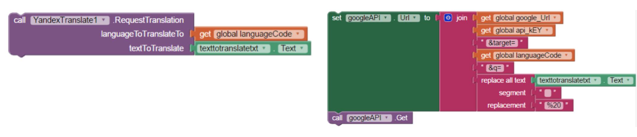 Google Translate API and App Inventor: An Alternative to Yandex