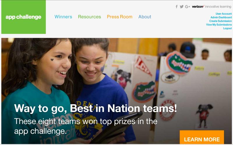Verizon Innovative Learning App Challenge Winners Announced
