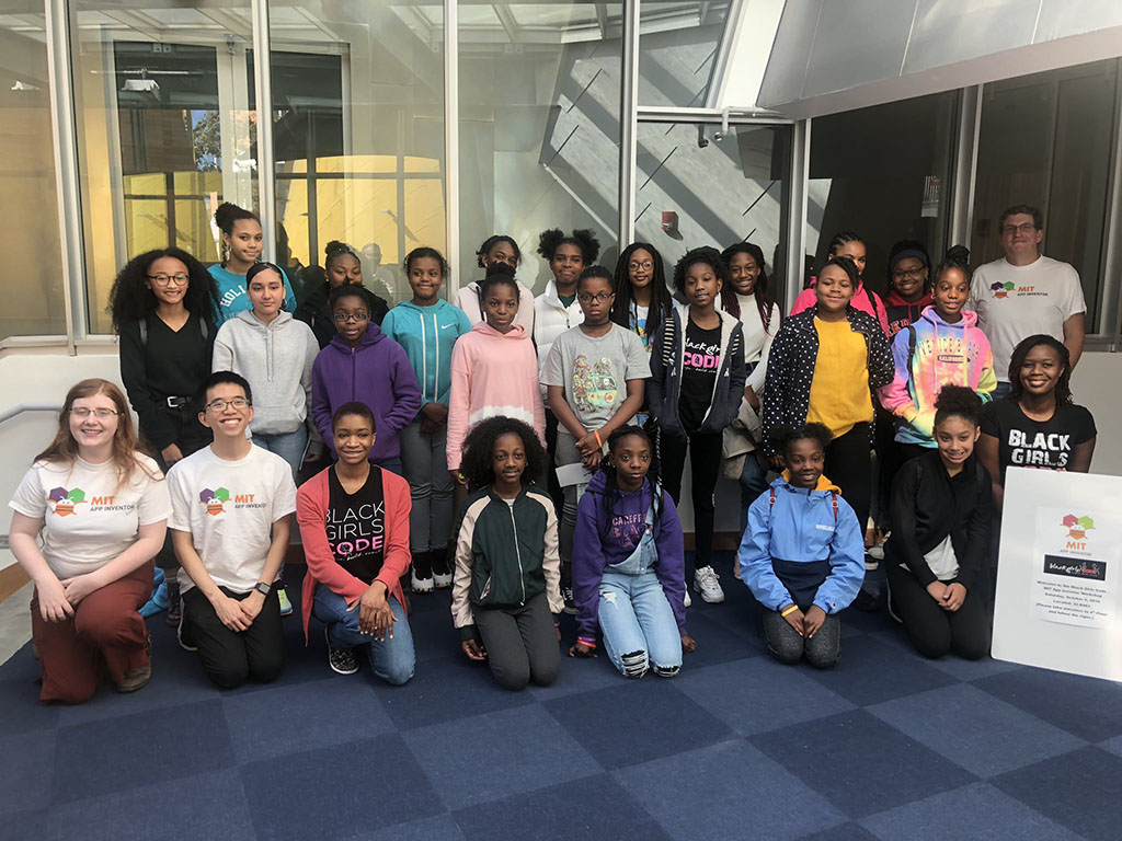 Black Girls Code Group Photo at MIT CSAIL